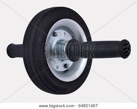 Roller Wheel For Abdominals On A White