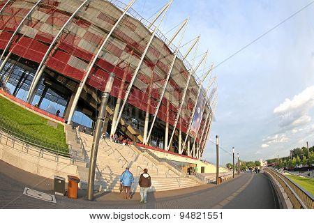 Exterior View Of Warsaw National Stadium
