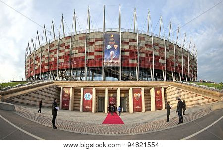 Exterior View Of Warsaw National Stadium
