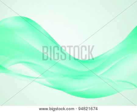 Colorful vector abstract green background.