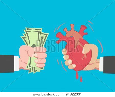 Money Buying A Heart