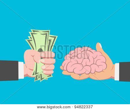 Money Buying Brain