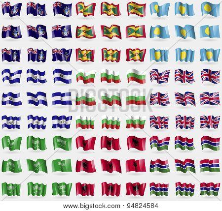 Tristan Da Cunha, Grenada, Palau, El Salvador, Bulgaria, United Kingdom, Saudi Arabia, Albania, Gamb