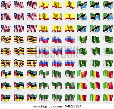Liberia, Chuvashia, Tanzania, Uganda, Slovenia, Pakistan, Mozambique, Chechen Republic Of Ichkeria,