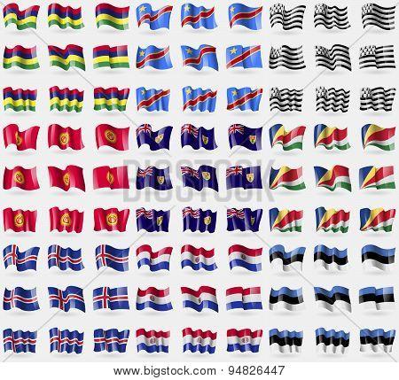 Mauritius, Congo Democratic Republic, Brittany, Kyrgyzstan, Turks And Caicos, Seychelles, Iceland, P