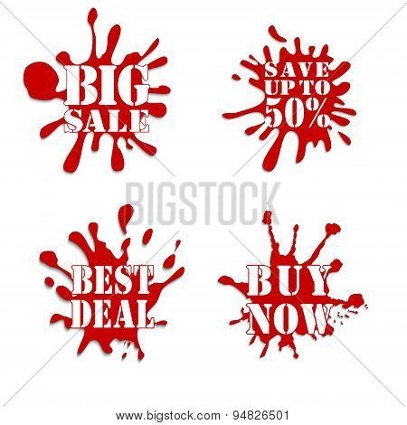 Sale Blot Collection Red