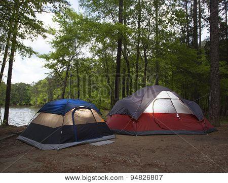 Darkening Campsite