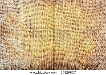 Texture of Sackcloth in grunge style
