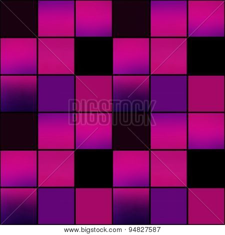 Abstract Modern Squares Seamless Pattern Texture Bright Purple Background