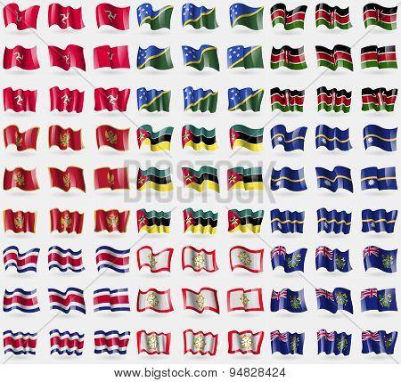 Ilse Of Man, Solomon Islands, Kenya, Montenegro, Mozambique, Nauru, Costa Rica, Sikkim, Pitcairn Isl