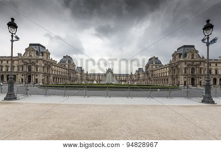PARIS, FRANCE - JUNE 02, 2008: The Louvre Museum is one of the world's largest museums