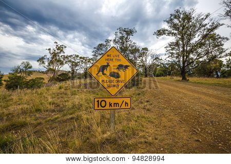 Tasmanian road signs
