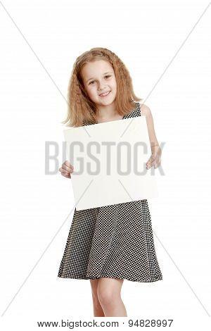 Cute cheerful teenage girl in a gray silk