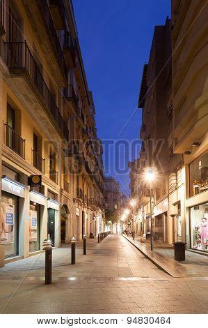 Street In Girona At Night