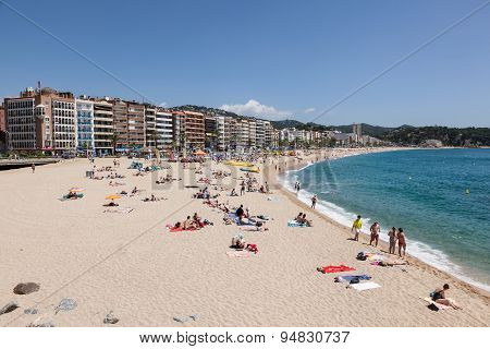 Beach In Lloret De Mar, Spain