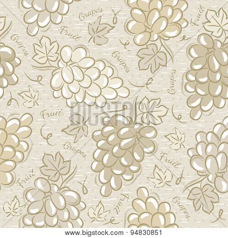 Seamless Patterns With Grapes