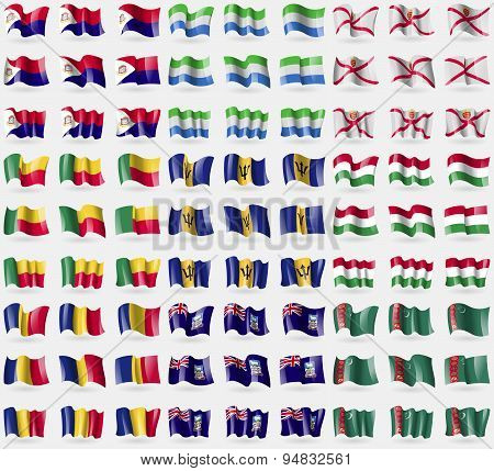 Saint Martin, Sierra Leone, Jersey, Benin, Barbados, Hungary, Romania, Falkland Islands, Turkmenista