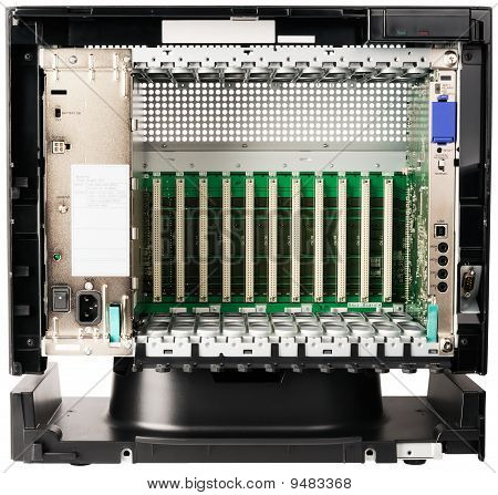 Telephone Switch Chassis On White