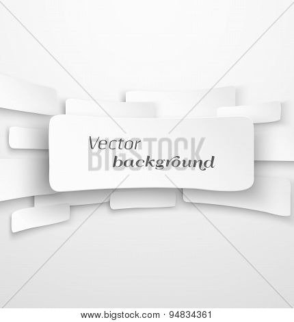 Abstract white paper banner background with drop shadow