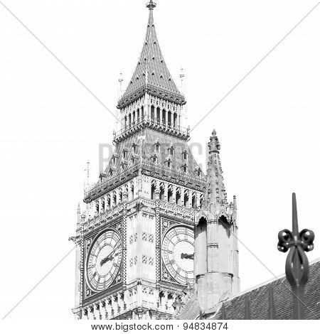London Big Ben And Historical Old Construction England  Aged City