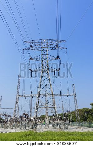 High Voltage Pylon Electricity