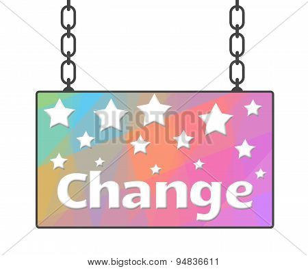 Change Text In Colorful Signboard