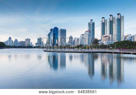 Waterfront at Bangkok business downtown