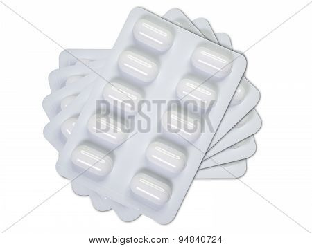 Five Tablets Blister Packs