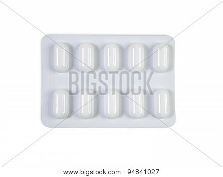 Single Tablet Blister Pack Isolated