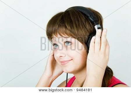 Portrait Of A Girl Music Lover