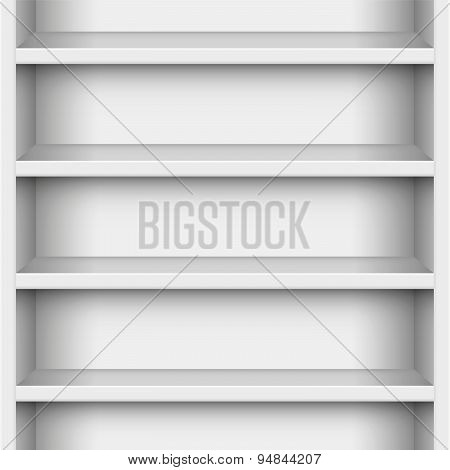 Book Case White Seamless Endless