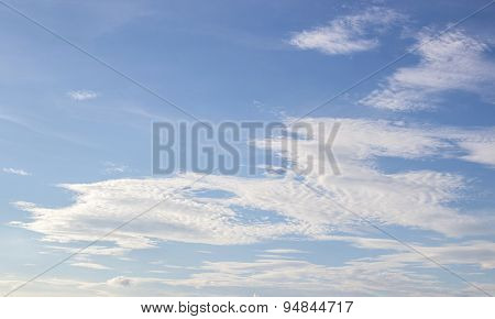 White Clouds In The Blue Sky