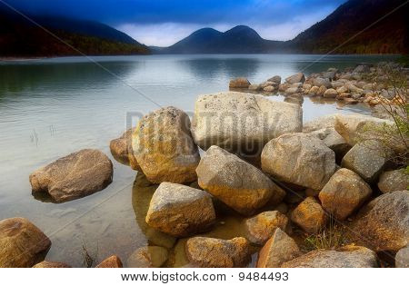 Jordan pond and bubble rocks
