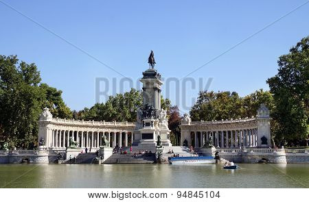 Monument To The Spanish King Alfonso Xii In The Retiro Park, Madrid
