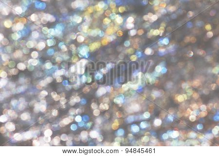 Festive Background With Colorful Light Circles