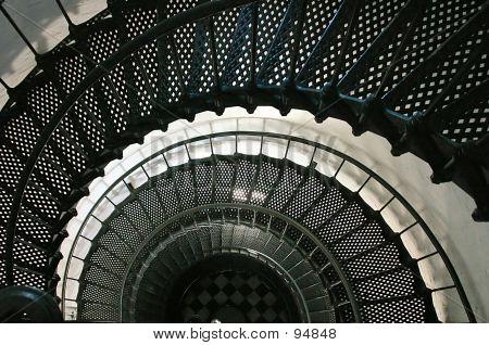 Escalera de caracol del Faro