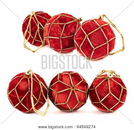 Decoration christmas ball composition