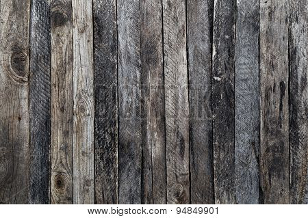 Texture Of Old Wooden Fence