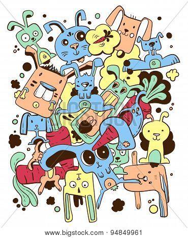 Cartoon bunny illustration.