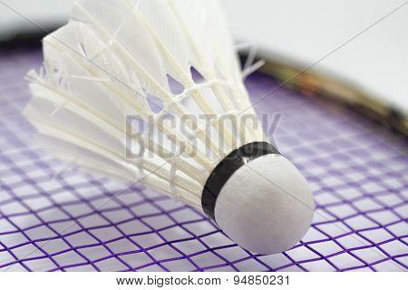 White Shuttlecock For Badminton