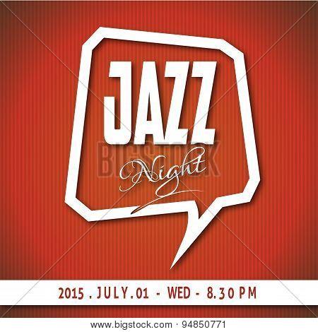 Modern Art Jazz Night Poster