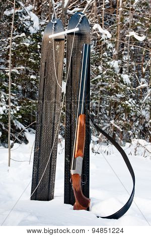 Sporting Gun And Skis