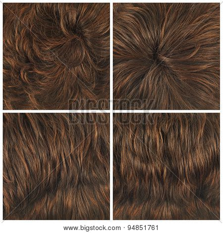 Set of four hair backgrounds