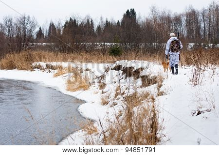 Hunter On The Snowy River Bank
