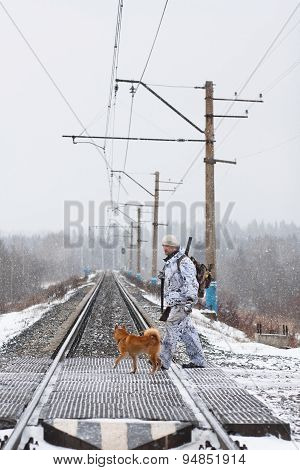 The Hunter With His Dog Pass Railway