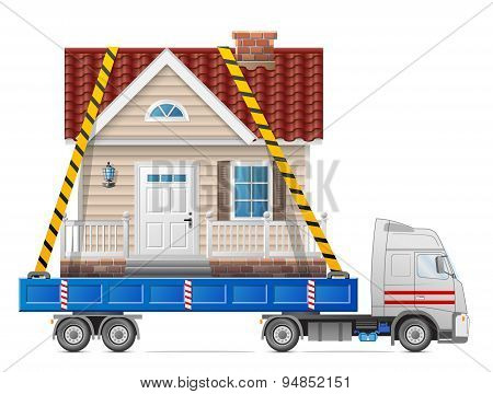 Road Transportation Of House