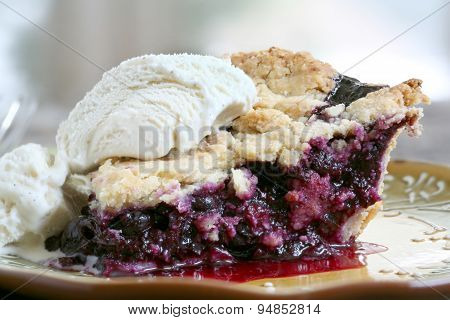 Slice of Blueberry Pie