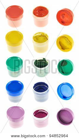 Gouache paint container case isolated