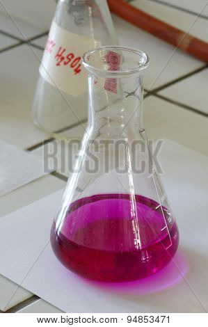 Chemical laboratory flask objects