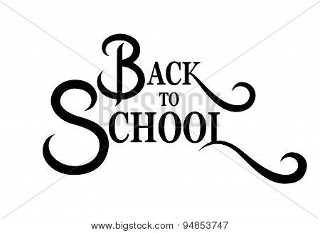 Back To School Lettering Handmade Calligraphy